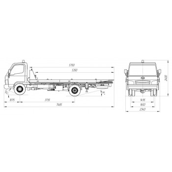 Hyundai HD 78 эвакуатор (сдвижная пл.)