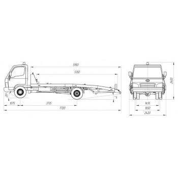 Hyundai HD 78 эвакуатор (ломаная пл.)